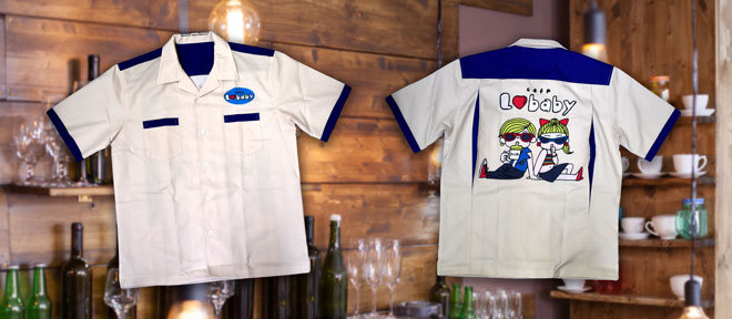 Cafe LoveBaby bowling-shirt